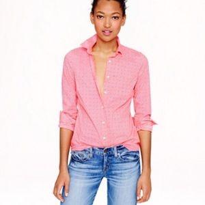J. Crew Perfect Floral Foulard Button Down Shirt